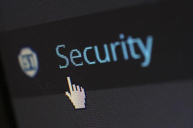 pantalla que muestra el cursor en una pantalla apuntando a: security