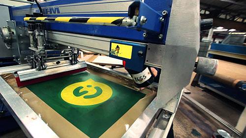 màquina industrial de serigrafia