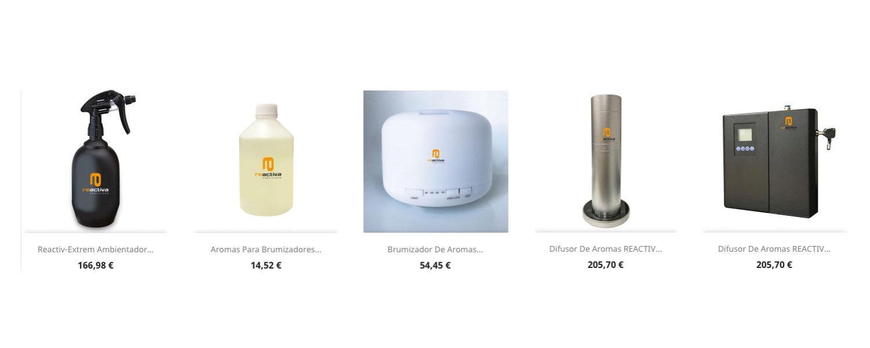 Aromas naturales y difusores profesionales Reactiva