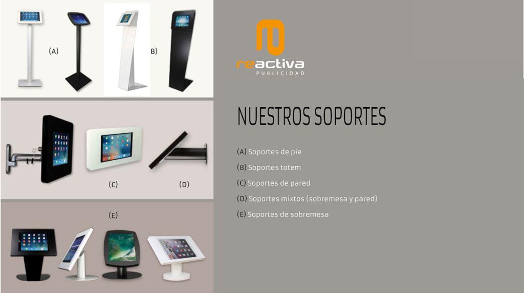 nuevos soportes universales para tablets